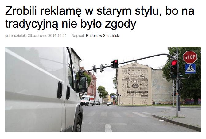 Mural reklamowy Bydgoszcz